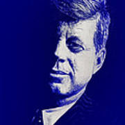 Jfk - Blue Art Print