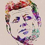 Jfk Watercolor Art Print