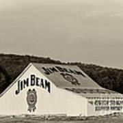Jim Beam - D008291-bw Art Print