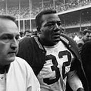 Jim Brown Post Game  Art Print by Retro Images Archive