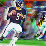 Jim Mcmahon With Walter Payton Chicago Bears Art Print