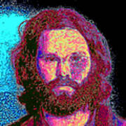 Jim Morrison 20130329 Square Art Print by Wingsdomain Art and Photography