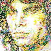Jim Morrison Watercolor Portrait.2 Art Print