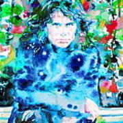 Jim Morrison Watercolor Portrait.3 Art Print