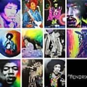 Jimi Collage Art Print