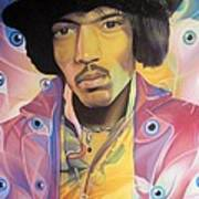 Jimi Hendrix-eyes Art Print