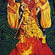 Jimi Hendrix Fire Art Print
