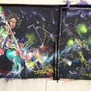 Jimi Hendrix Mural Art Print by Erik Franco