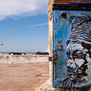 Jimi Hendrix On The Beach Art Print by Daniel Kocian