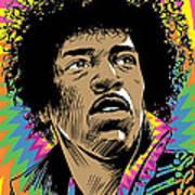 Jimi Hendrix Pop Art Art Print