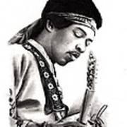 Jimi Hendrix Art Print by Rosalinda Markle