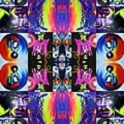Jimi Kaleidoscope I Art Print