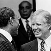 Jimmy Carter And Anwar Sadat 1980 Art Print