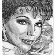 Joan Collins In 1985 Art Print