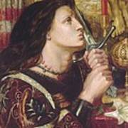 Joan Of Arc Kisses The Sword Of Liberation Art Print