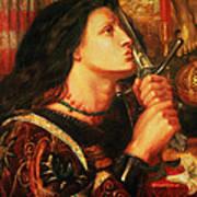 Joan Of Arc Kissing The Sword Art Print