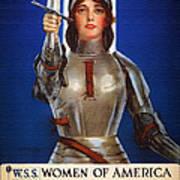 Joan Of Arc War Stamps Poster 1918 Art Print