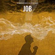 Job Books Of The Bible Series Old Testament Minimal Poster Art Number 18 Art Print