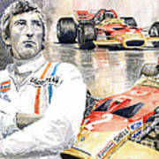 Jochen Rindt Golden Leaf Team Lotus Lotus 49b Lotus 49c Art Print
