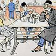 Jockey And Trainers In The Bar Art Print
