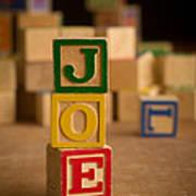 Joe - Alphabet Blocks Art Print