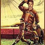 Joe Dimaggio Yankee Clipper Art Print by Ray Tapajna