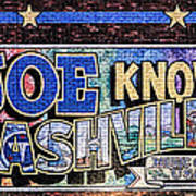Joe Knows Nashville Art Print