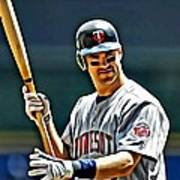 Joe Mauer Painting Art Print