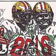 Joe Montana And Jerry Rice Art Print by Jeremiah Colley
