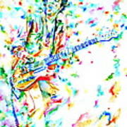 Joe Strummer Playing Live Art Print