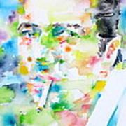 Joe Strummer - Watercolor Portrait Art Print