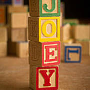 Joey - Alphabet Blocks Art Print