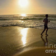 Jogging At Sunrise By Kaye Menner Art Print