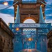 John A. Roebling Suspension Bridge Art Print