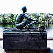 John B Kelly Statue Philadelphia Art Print by Bill Cannon