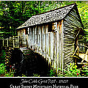 John Cable Grist Mill - Poster Art Print