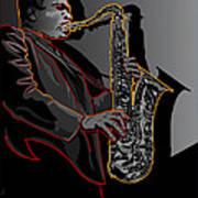 John Coltrane Jazz Saxophone Legend Art Print