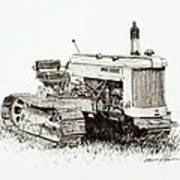 John Deere Crawler Art Print