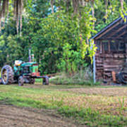 John Deere - Old Tractor Shed Art Print