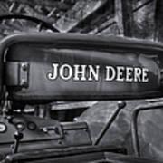 John Deere Tractor Bw Art Print by Susan Candelario
