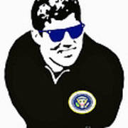 John F Kennedy Signature Wayfarer Art Print