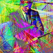 John Fitzgerald Kennedy Jfk In Abstract 20130610 Art Print