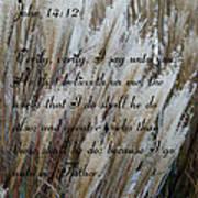 John Fourteen Twelve  Art Print