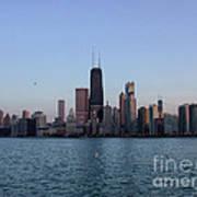 John Hancock Building And Chicago Il Skyline Art Print