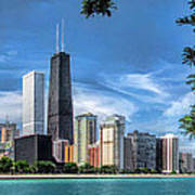John Hancock Chicago Skyline Panorama Art Print