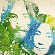 John Lennon and yoko ono Art Print