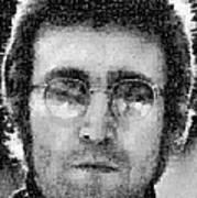 John Lennon Mosaic Image 16 Art Print