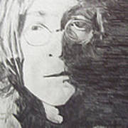 John Lennon Pencil Art Print by Jimi Bush