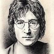 John Lennon Portrait Print by Wu Wei