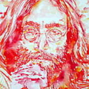 John Lennon With Rose Art Print